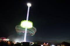 Um carrossel na noite Fotografia de Stock