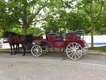 Um carruagem bonito faz a excursão à cidade imagens de stock royalty free