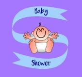 Um cartão agradável para dar boas-vindas a um bebê Fotografia de Stock