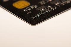 Um cartão de crédito fotografia de stock