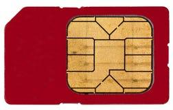 Um cartão de Sim Fotos de Stock Royalty Free