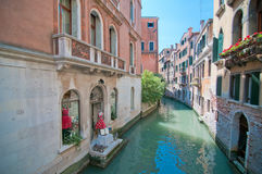 Um cartão de Veneza Fotos de Stock Royalty Free