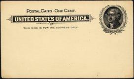 Um cartão do centavo Imagens de Stock Royalty Free