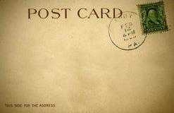 Um cartão retro afligido dos 1900s fotografia de stock royalty free