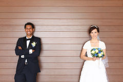 Casamento inter-racial Fotografia de Stock Royalty Free