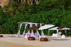 Um casamento na praia Imagens de Stock