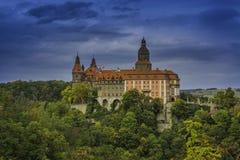 Um castelo bonito do ¼ de KsiÄ… Å no brzych do 'de WaÅ imagens de stock royalty free