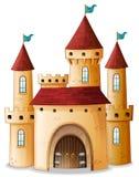 Um castelo com as três bandeiras azuis ilustração stock
