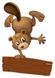 Um castor e a placa vazia Imagem de Stock Royalty Free