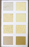 Um catálogo da amostra do teste padrão de pedra diferente do projeto Imagem de Stock Royalty Free