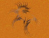 Um cavalo de mar e um fractal ilustração royalty free