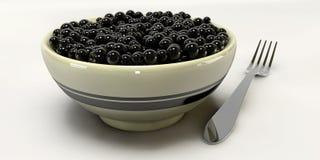 Um caviar 3d no fundos brancos Imagem de Stock