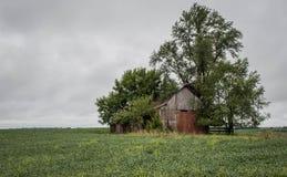 Um celeiro rural, Winterset, Madison County, Iowa fotografia de stock