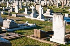Um cemitério velho Fotos de Stock Royalty Free