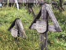 Um cemitério velho em Romênia fotografia de stock