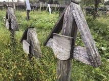 Um cemitério velho em Romênia imagem de stock