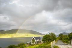 Um cenário rural dentro da ilha de Skye Fotografia de Stock