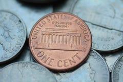 Um centavo, um de um tipo Imagens de Stock