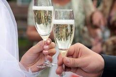 Um champanhe Imagens de Stock Royalty Free