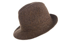 Um chapéu de jogador marrom à moda Imagem de Stock