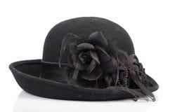 Um chapéu negro Fotografia de Stock Royalty Free