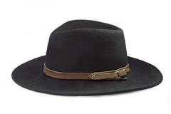 Um chapéu preto do Mens Foto de Stock Royalty Free