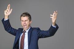 Um chefe muito irritado do negócio Foto de Stock Royalty Free