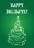 Um christmastree em um cartão ilustração stock