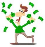 Um chuveiro de dinheiro ilustração stock