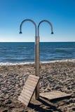 Um chuveiro exterior na estância turística de Viareggio imagem de stock royalty free