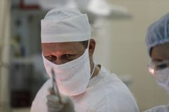 Um cirurgião real fotografia de stock royalty free
