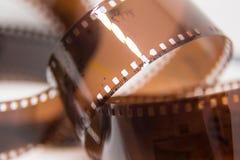 Um close up bonito de um filme análogo da foto em um fundo branco fotos de stock royalty free