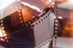 Um close up bonito de um filme análogo da foto em um fundo branco foto de stock royalty free