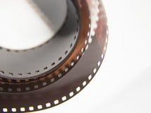 Um close up bonito de um filme análogo da foto em um fundo branco fotografia de stock royalty free