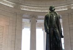 Um close up da estátua de Thomas Jefferson fotografia de stock