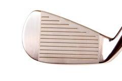 Um close-up de um ferro do golfe Fotos de Stock
