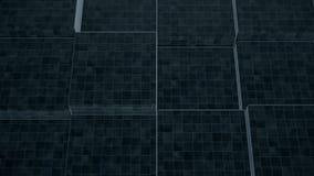 Um close-up de uma parede dinâmica decorativa feita de blocos de pedra retangulares Animação abstrata do movimento da parede ilustração royalty free