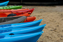 Um close-up do esporte Canoeing Foto de Stock Royalty Free