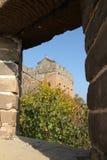 Um close-up do Grande Muralha Imagens de Stock