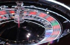 Um close-up eletrônico de giro da roda de roleta do casino Imagens de Stock Royalty Free