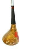 Um clube de golfe de madeira antigo brilhante ereto Fotos de Stock Royalty Free