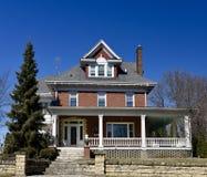 Um Colonial do tijolo imagem de stock royalty free