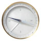 Um compasso do vintage usado para a navegação isolada sobre fotografia de stock royalty free