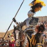 Um competiam do Joust no festival do renascimento do Arizona Foto de Stock Royalty Free