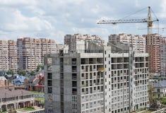 Um complexo de construções novas imagens de stock
