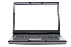 Um computador portátil com uma tela em branco Imagem de Stock Royalty Free
