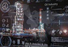 Um conceito da indústria petroleira foto de stock