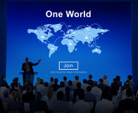 Um conceito da interconexão do relacionamento da conexão da paz de mundo Foto de Stock