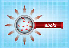 Um conceito epidemiológico Fotografia de Stock