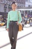 Um convidado novo na semana de moda de New York fotos de stock